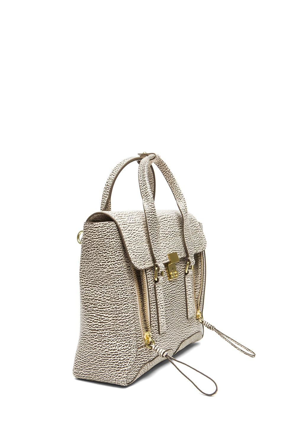 Image 3 of 3.1 phillip lim Medium Pashli Trapeze in Antique White & Military