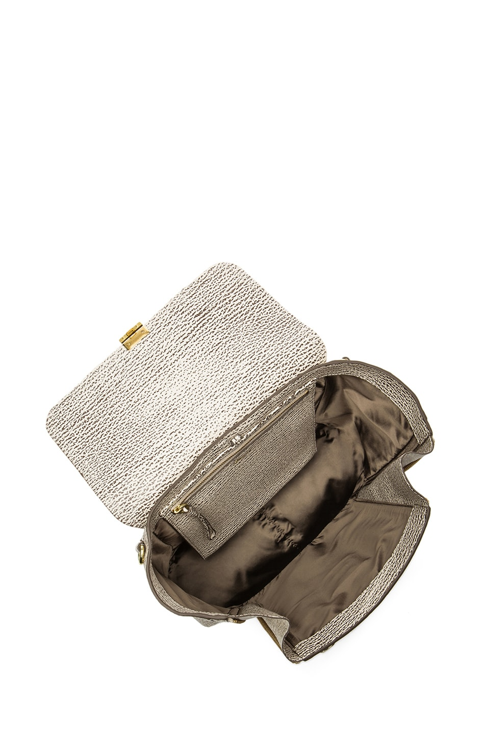 Image 4 of 3.1 phillip lim Medium Pashli Trapeze in Antique White & Military