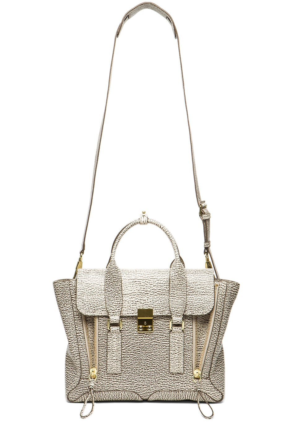 Image 5 of 3.1 phillip lim Medium Pashli Trapeze in Antique White & Military
