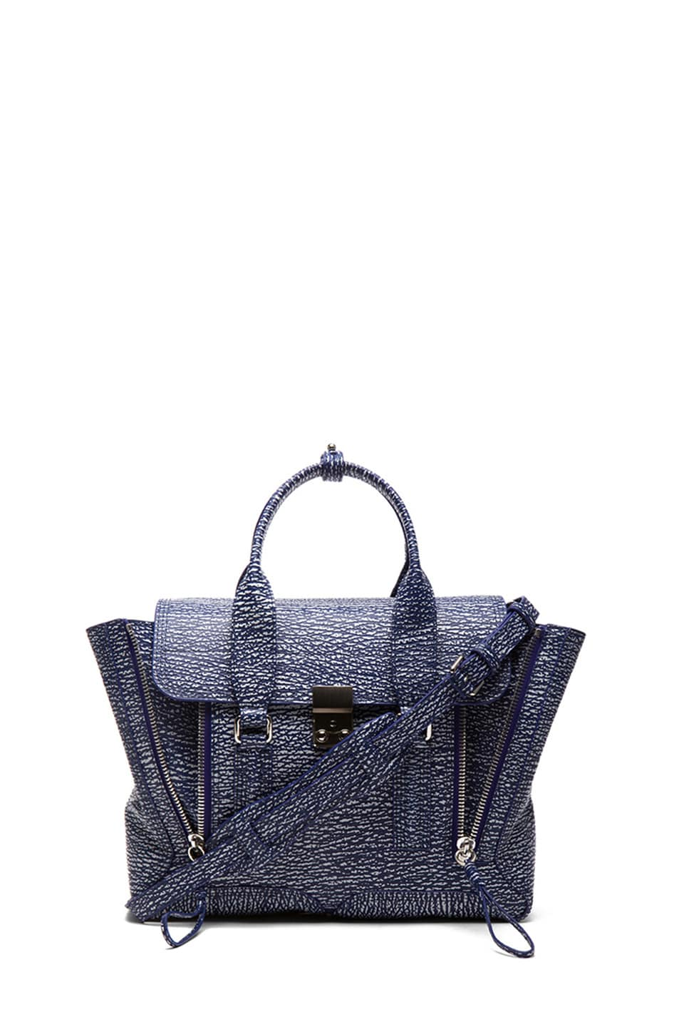 Image 1 of 3.1 phillip lim Medium Pashli Trapeze in Cobalt & Antique White