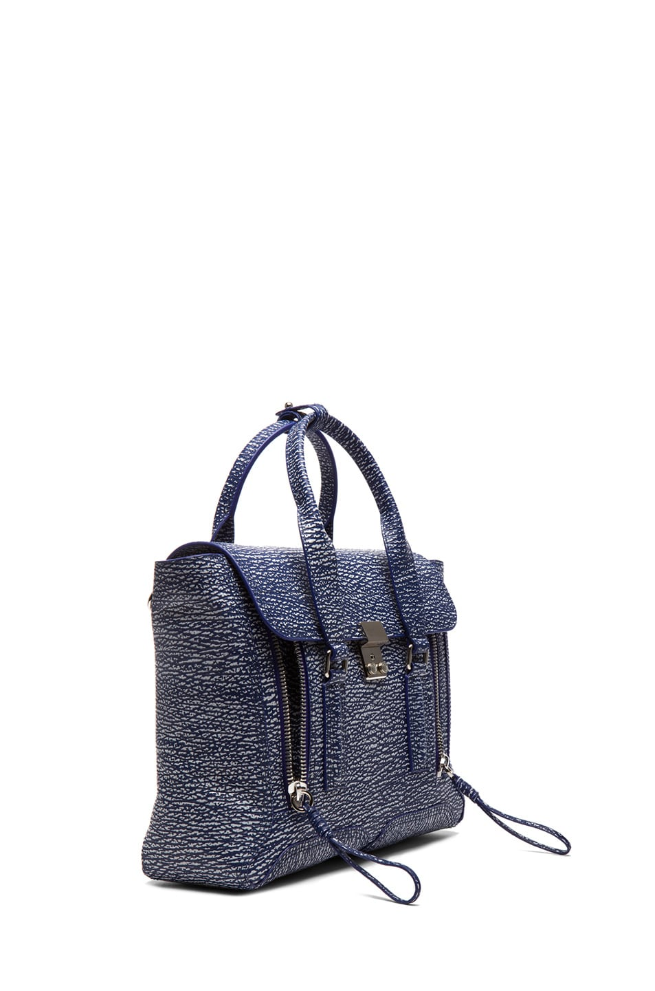 Image 3 of 3.1 phillip lim Medium Pashli Trapeze in Cobalt & Antique White