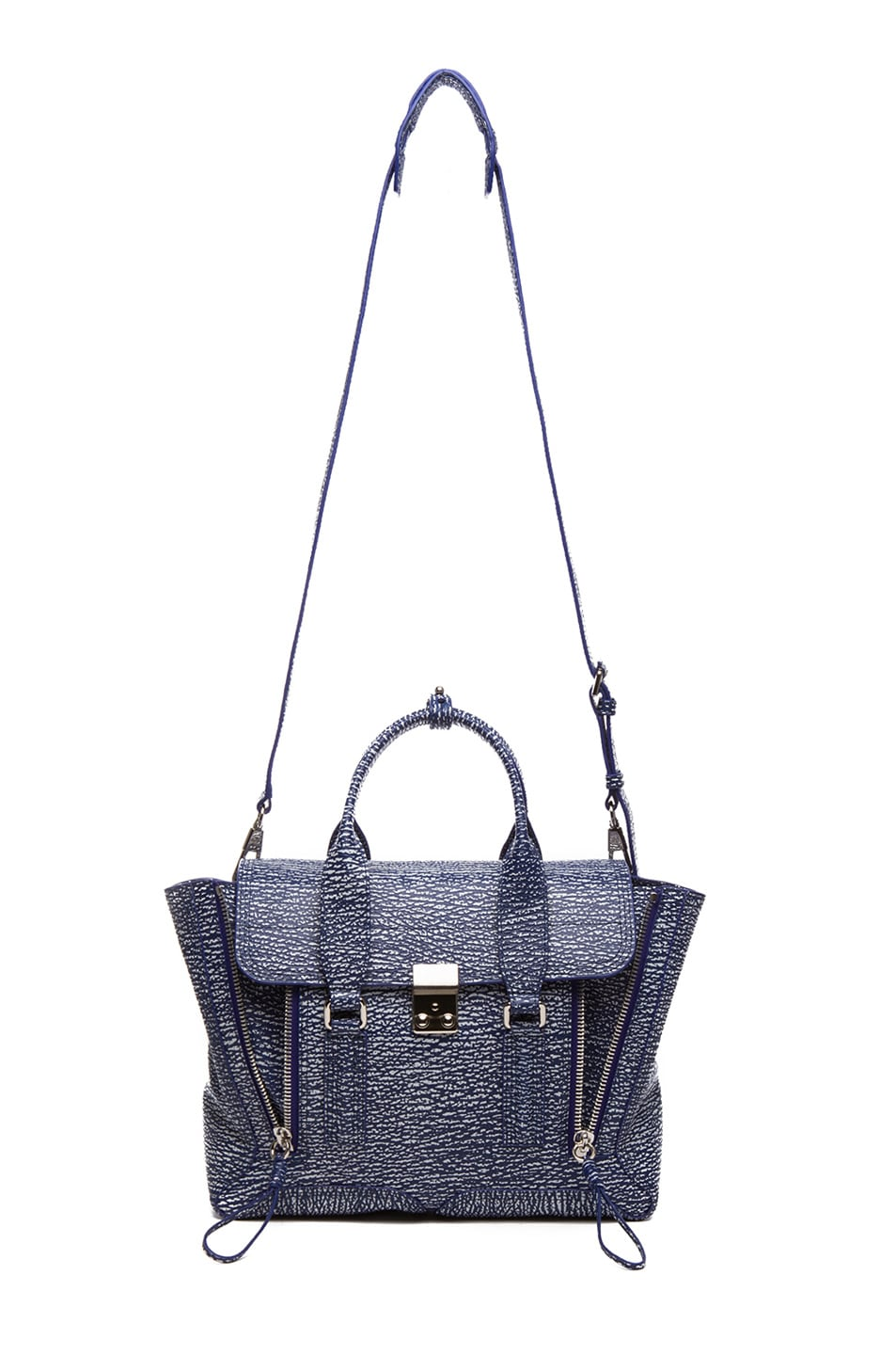 Image 5 of 3.1 phillip lim Medium Pashli Trapeze in Cobalt & Antique White