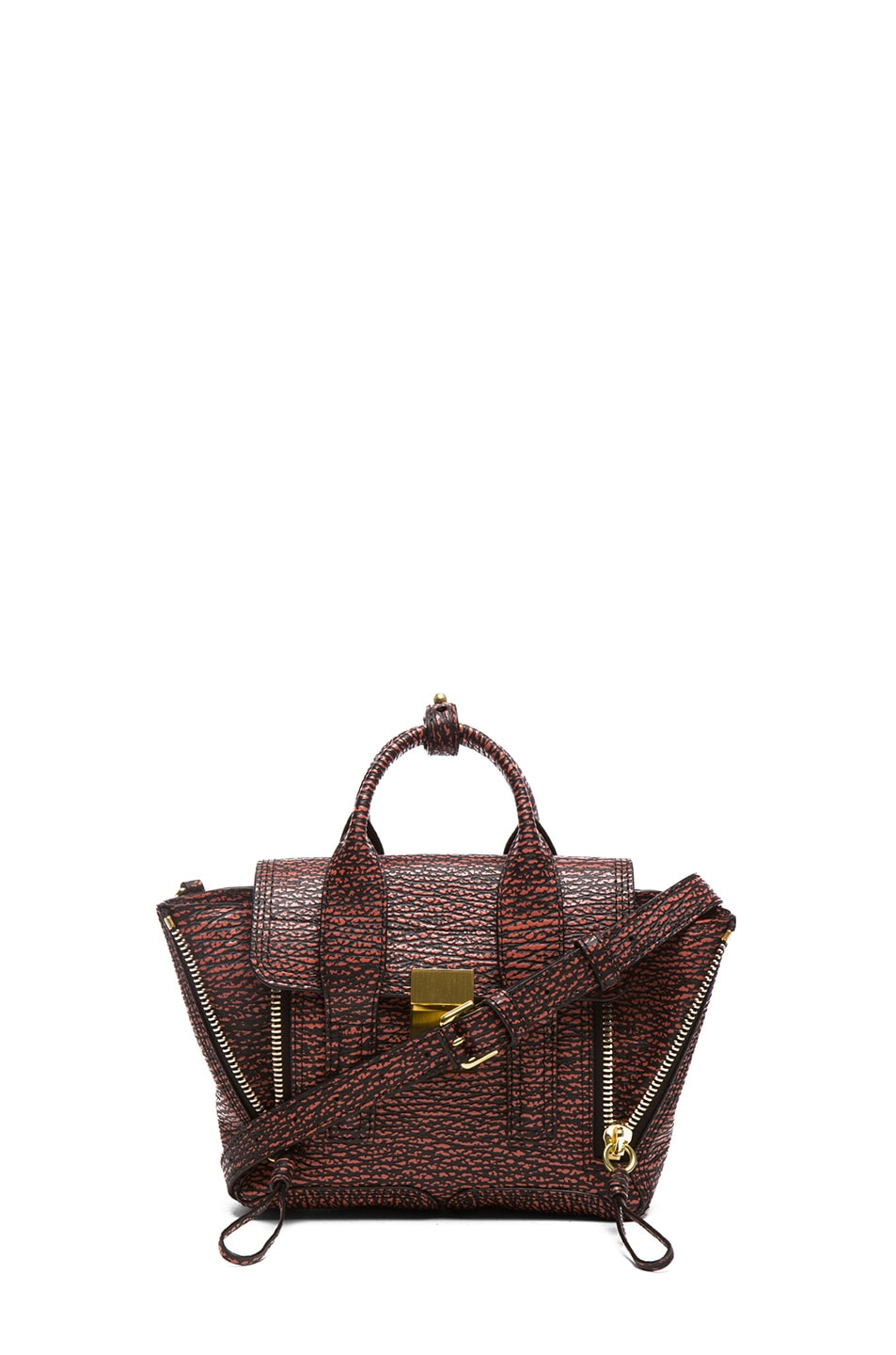 Image 1 of 3.1 phillip lim Mini Pashli Satchel in Black & Lava