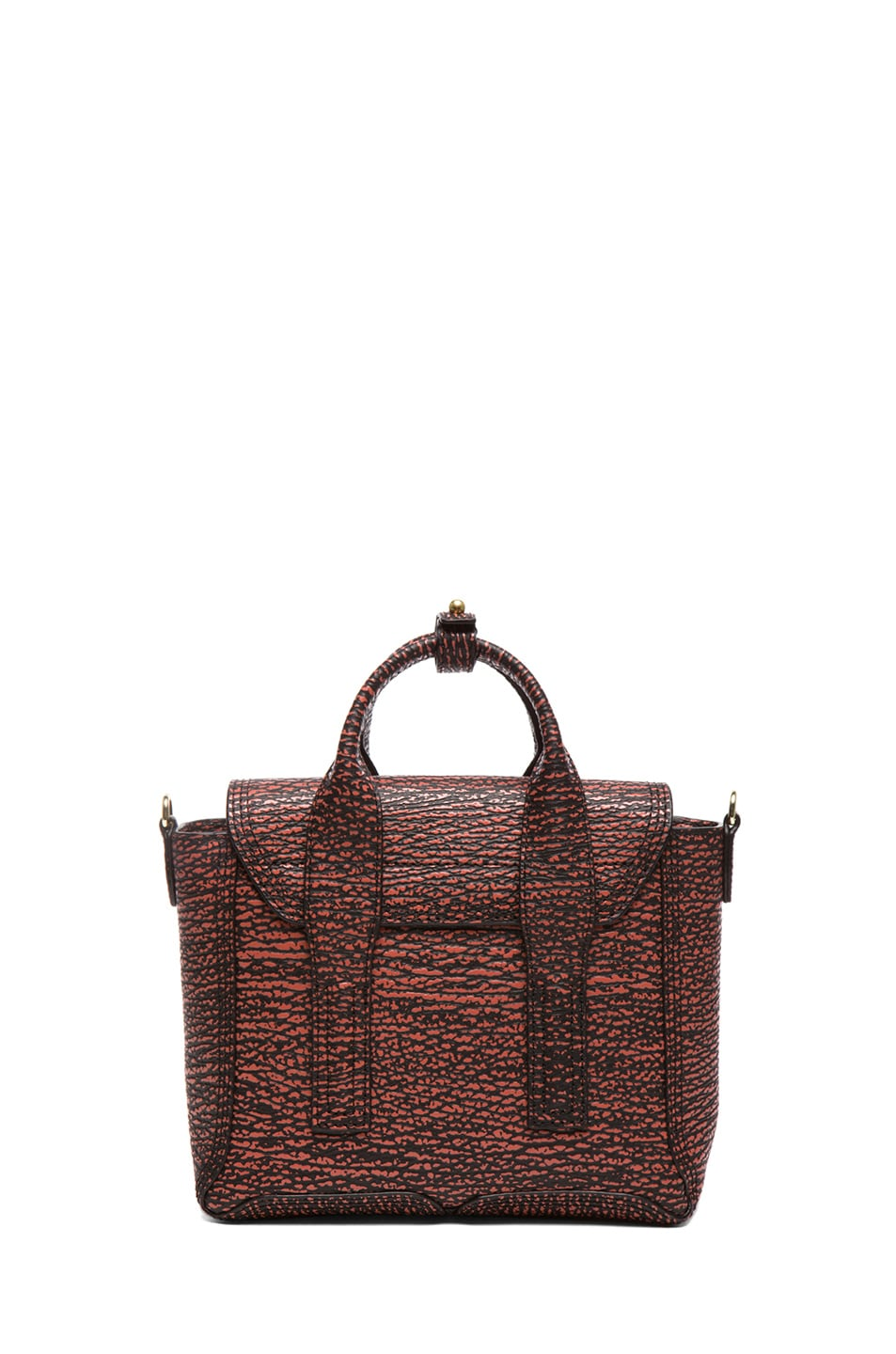 Image 2 of 3.1 phillip lim Mini Pashli Satchel in Black & Lava