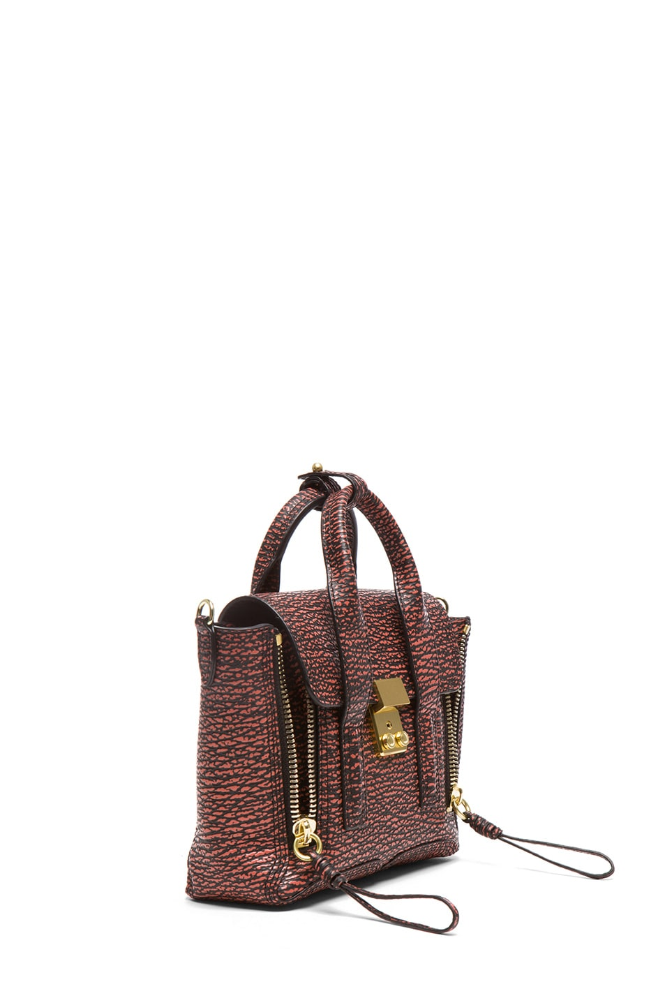 Image 3 of 3.1 phillip lim Mini Pashli Satchel in Black & Lava