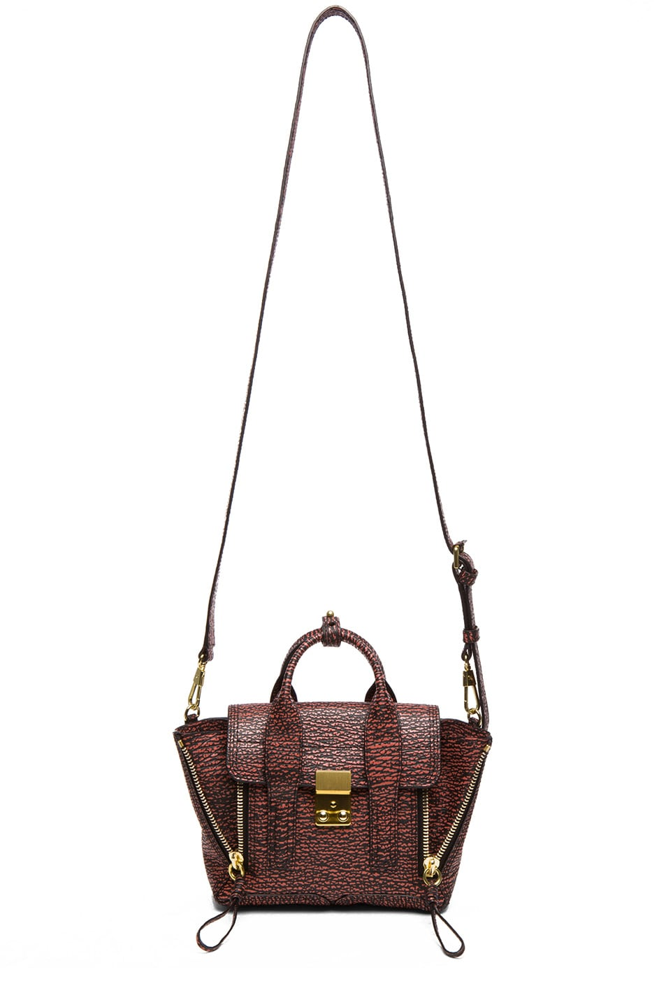 Image 5 of 3.1 phillip lim Mini Pashli Satchel in Black & Lava