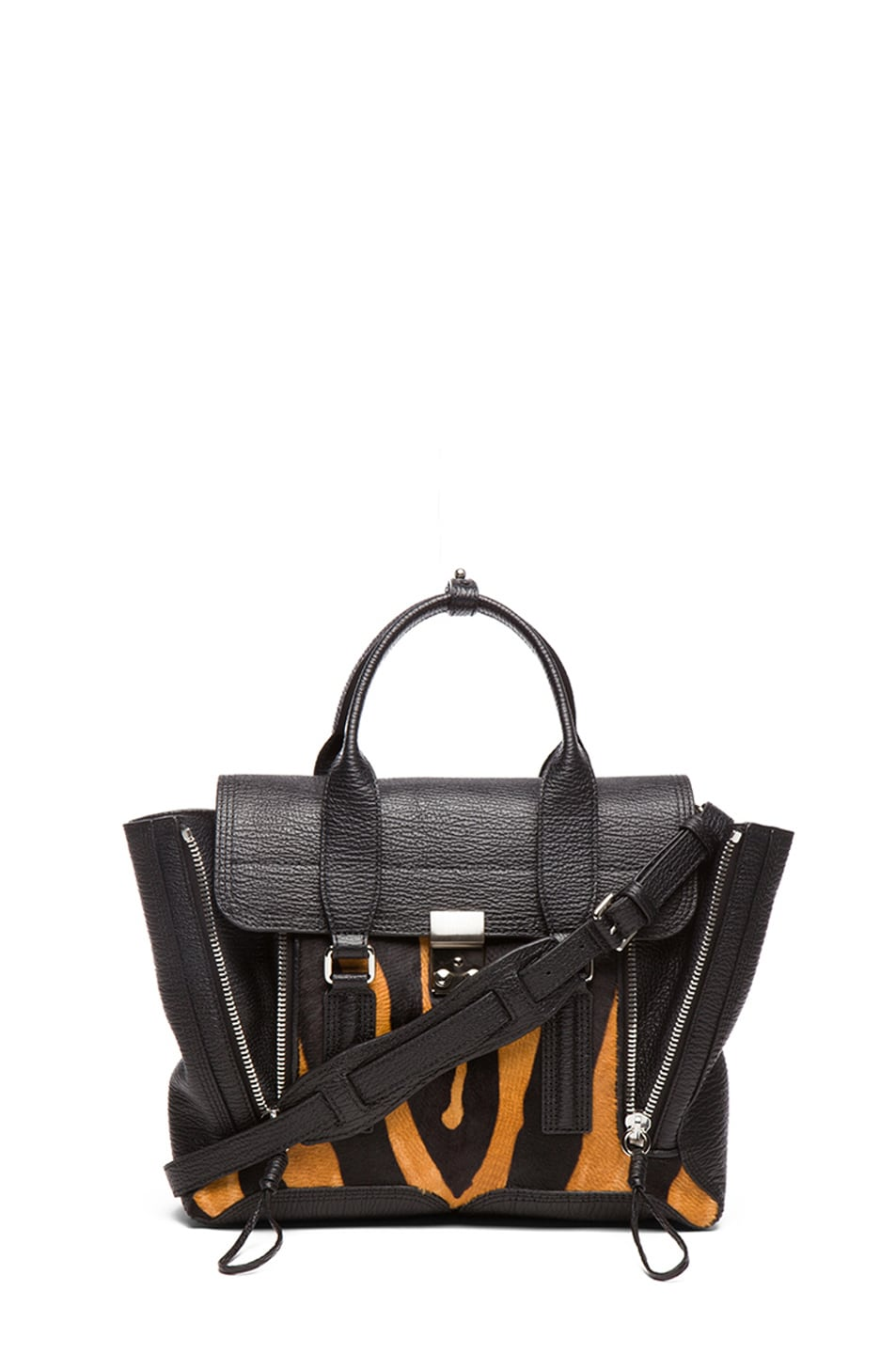 Image 1 of 3.1 phillip lim Medium Pashli Trapeze in Natural & Black