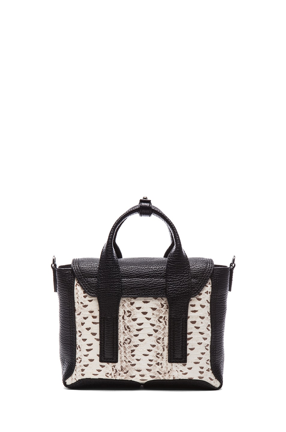 Image 2 of 3.1 phillip lim EXCLUSIVE Mini Pashli Satchel in White & Black