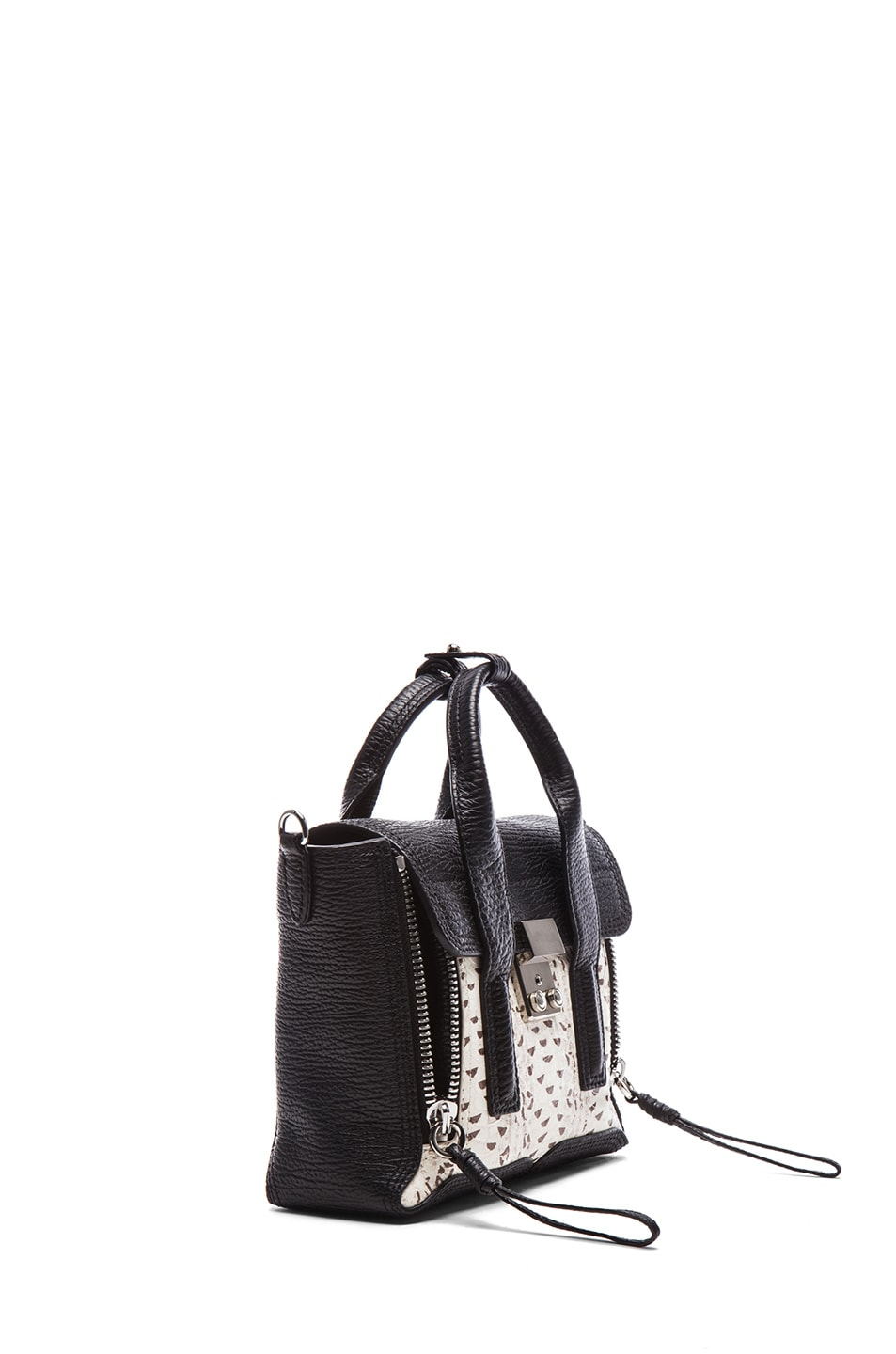 Image 3 of 3.1 phillip lim EXCLUSIVE Mini Pashli Satchel in White & Black