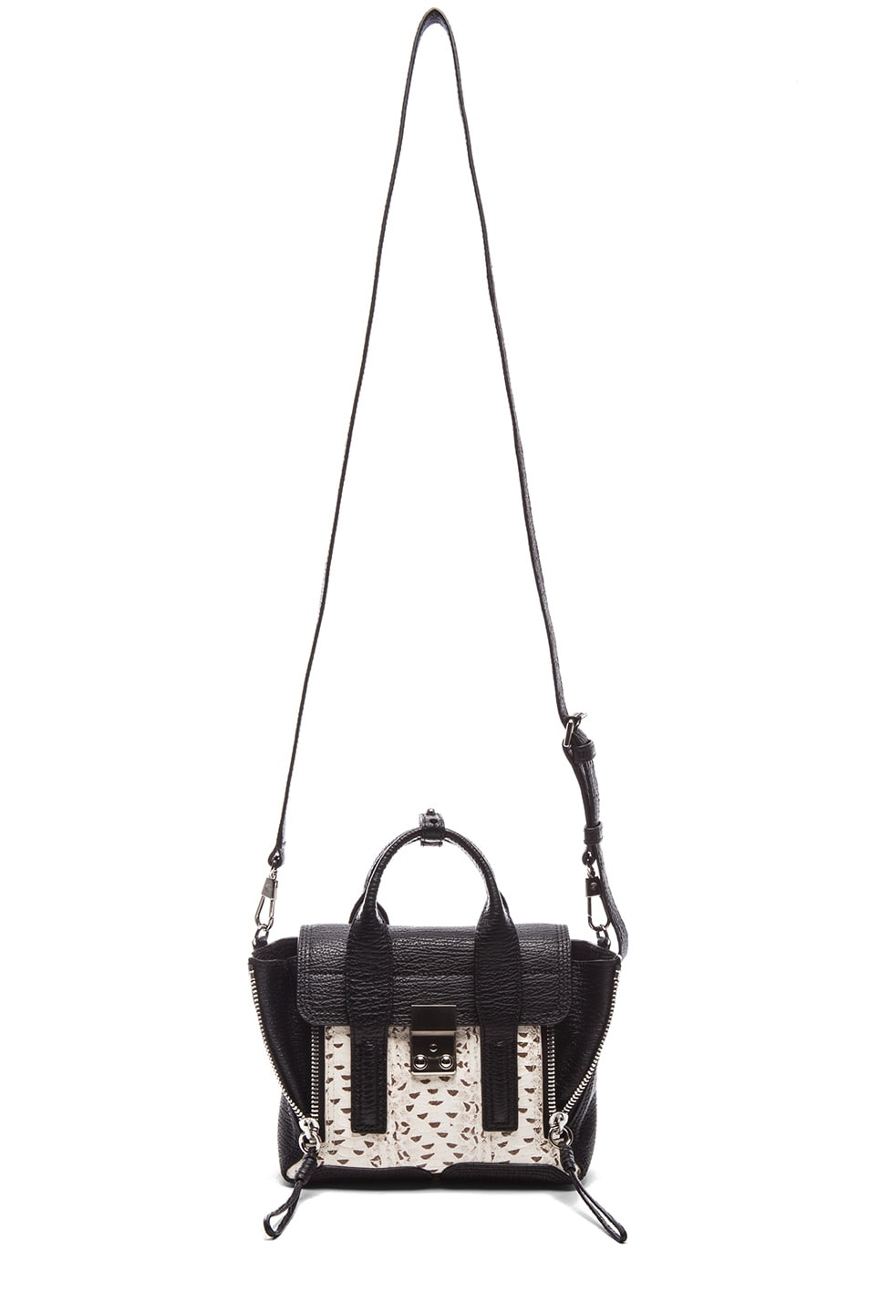 Image 5 of 3.1 phillip lim EXCLUSIVE Mini Pashli Satchel in White & Black