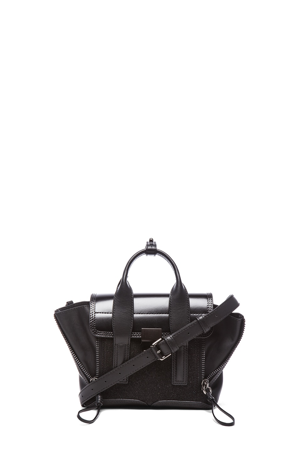 Image 1 of 3.1 phillip lim Mini Pashli Satchel in Gunmetal Black