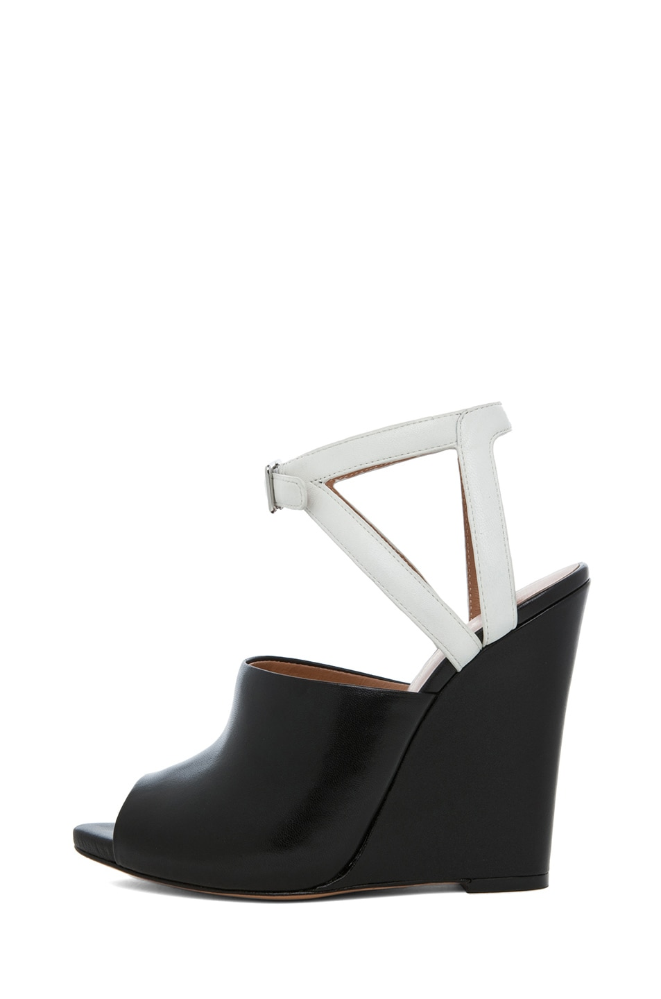Image 1 of 3.1 phillip lim Juliette Leather Wedge in Black & White