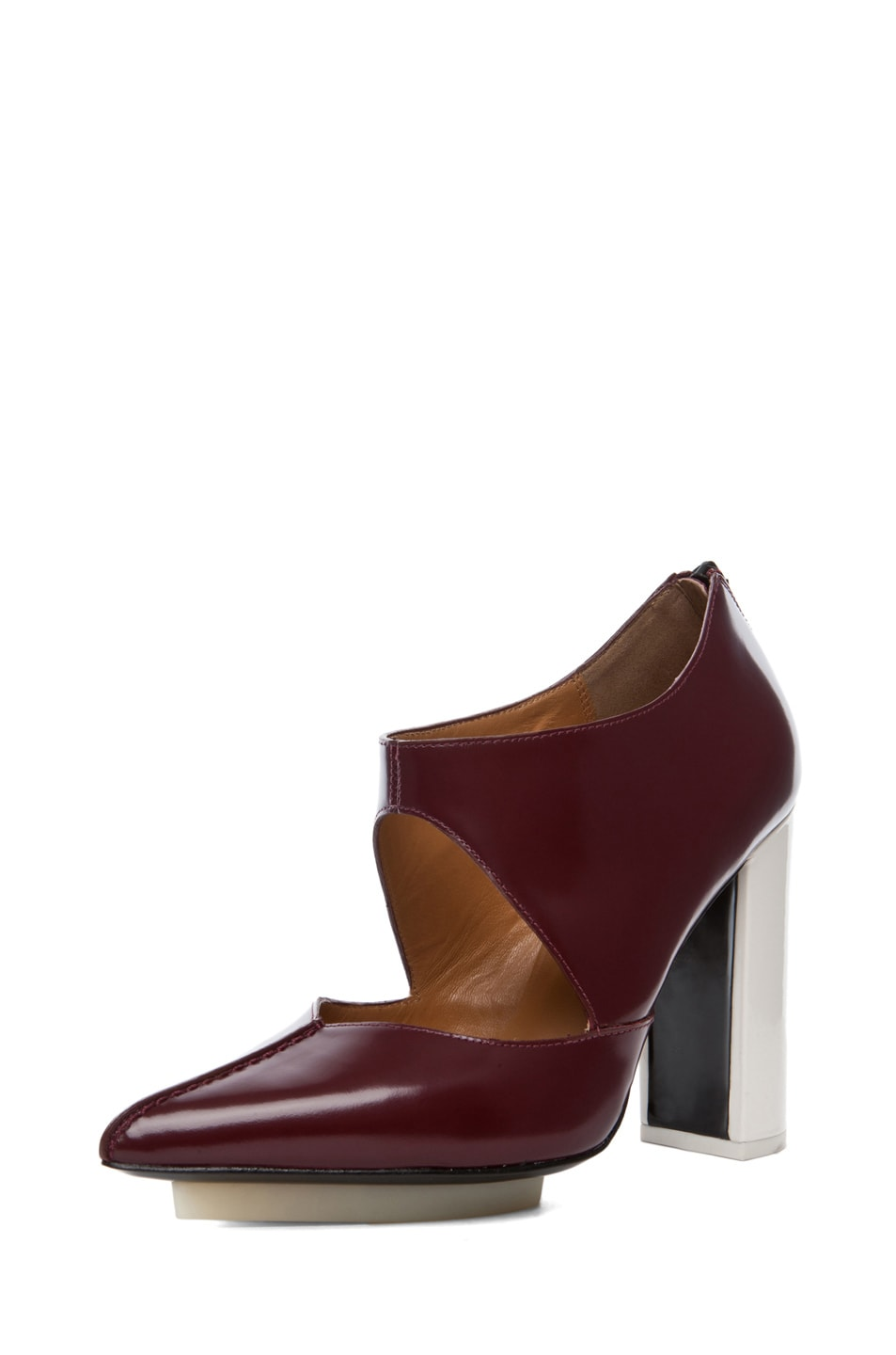 Image 2 of 3.1 phillip lim Kadie Cut Out Bootie in Prune