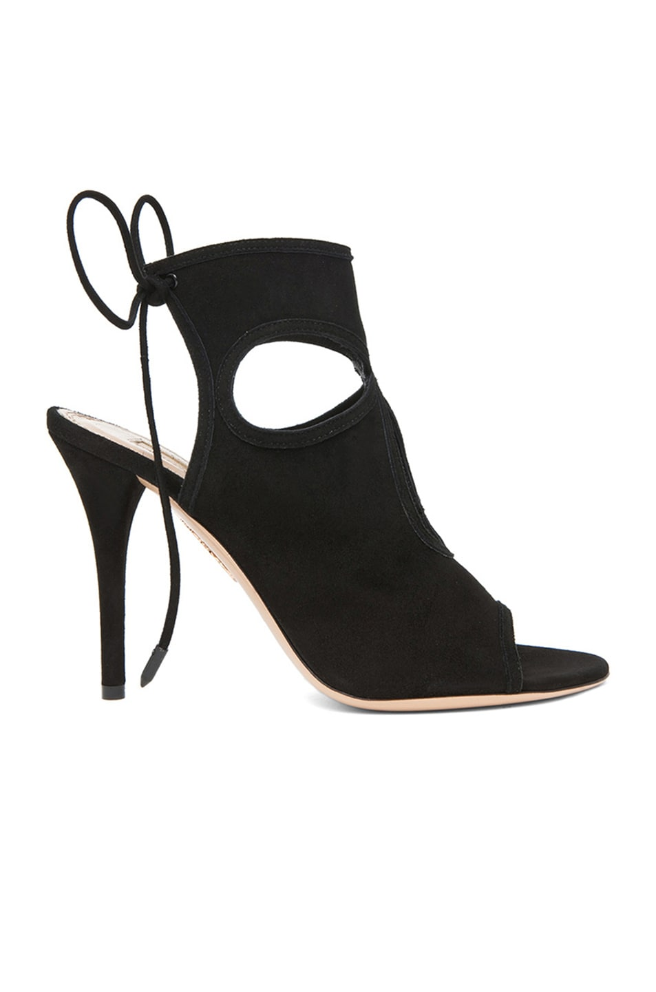 Image 1 of Aquazzura Sexy Thing Suede Heels in Black