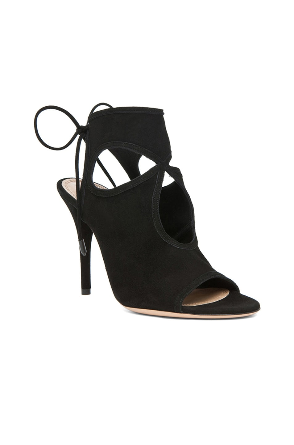 Image 2 of Aquazzura Sexy Thing Suede Heels in Black