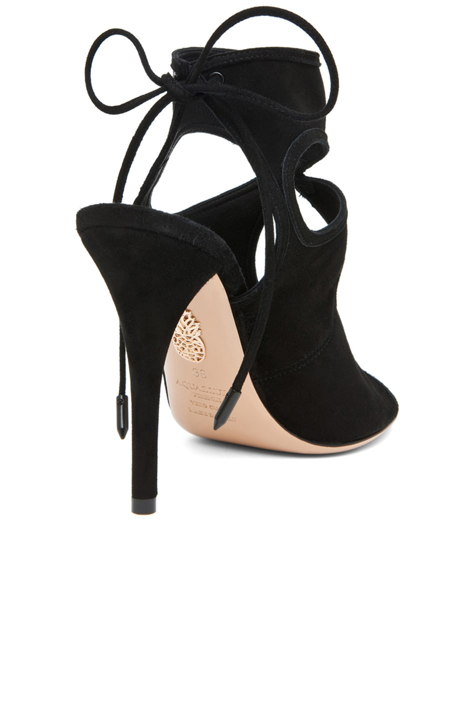 Image 3 of Aquazzura Sexy Thing Suede Heels in Black