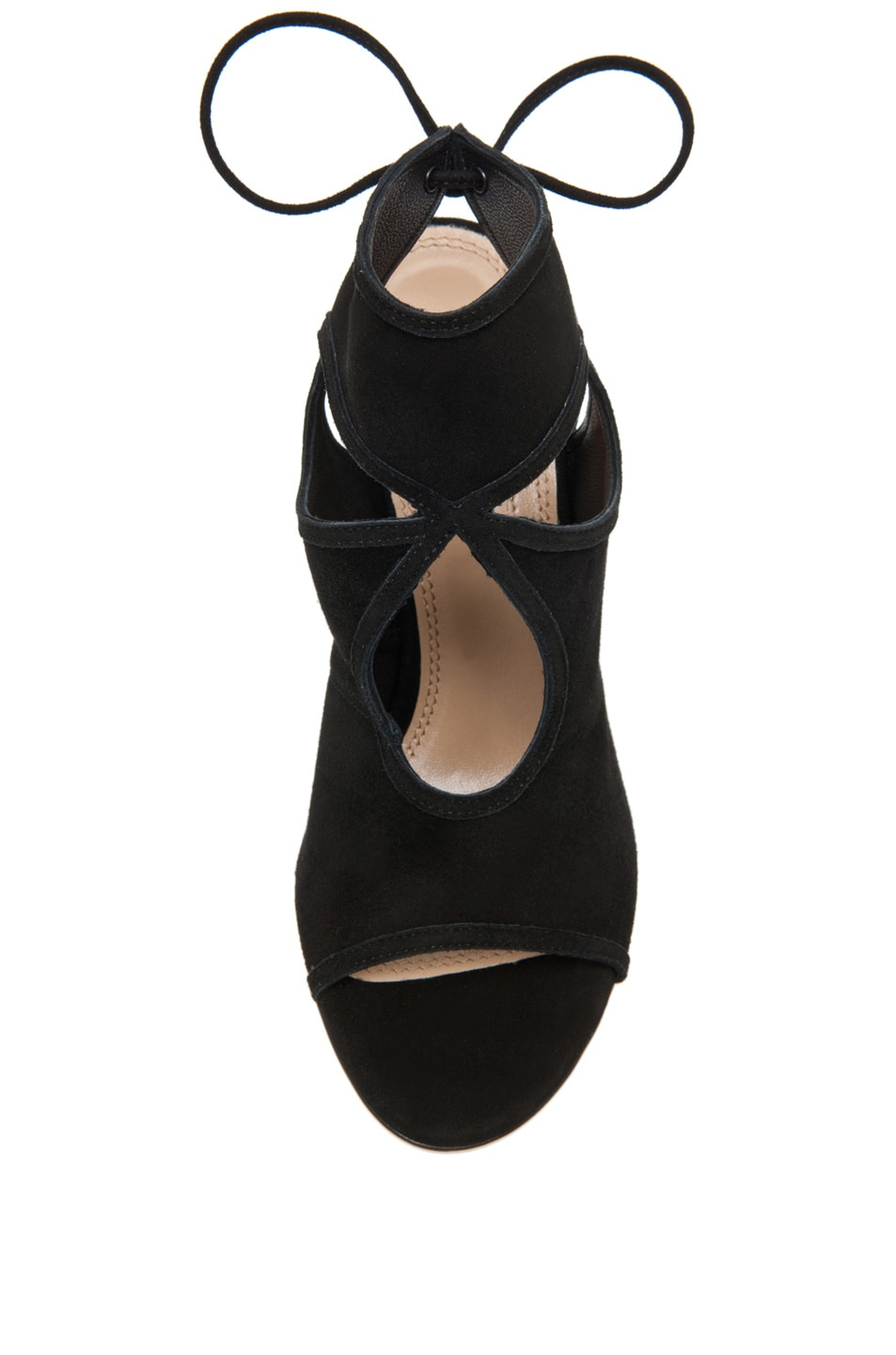 Image 4 of Aquazzura Sexy Thing Suede Heels in Black