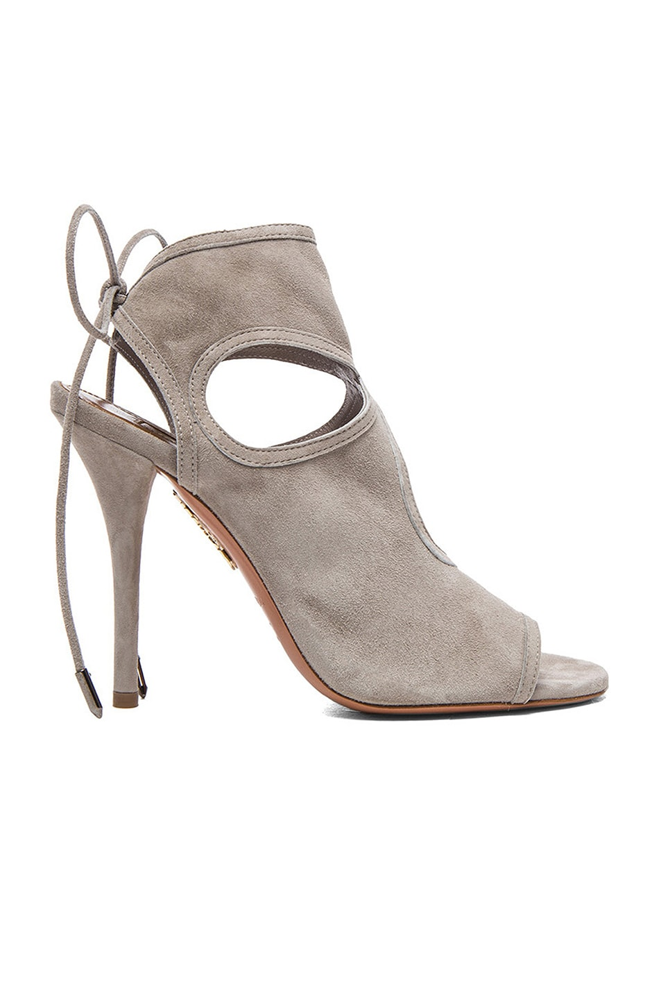 Image 1 of Aquazzura Sexy Thing Suede Heels in Light Grey