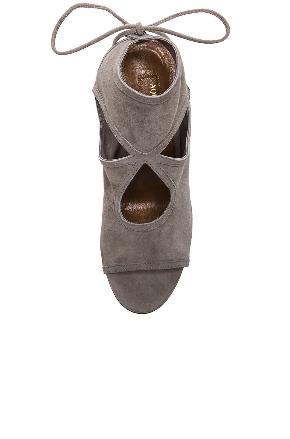 Image 4 of Aquazzura Sexy Thing Suede Heels in Light Grey