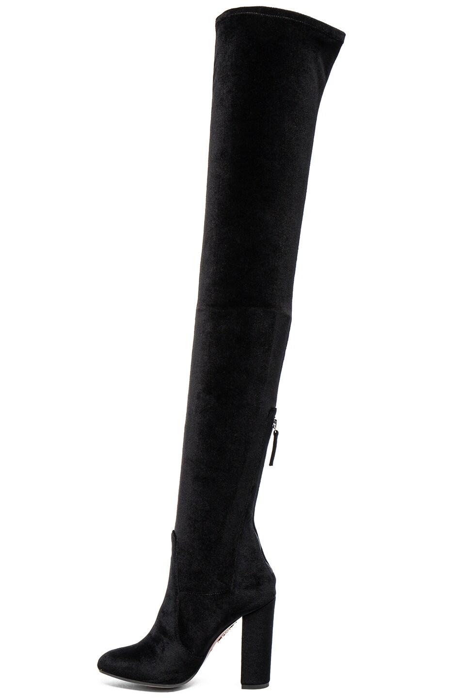 AQUAZZURA Velvet Over-The-Knee Boots, Llack | ModeSens