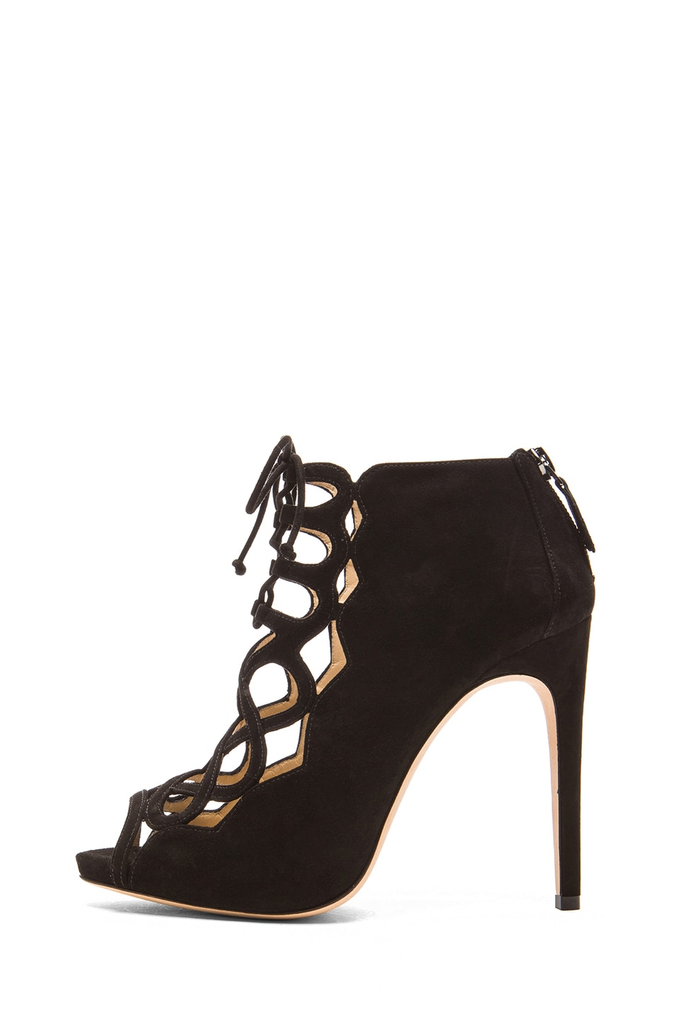 Image 1 of Alexandre Birman Gilca Suede Booties in Black