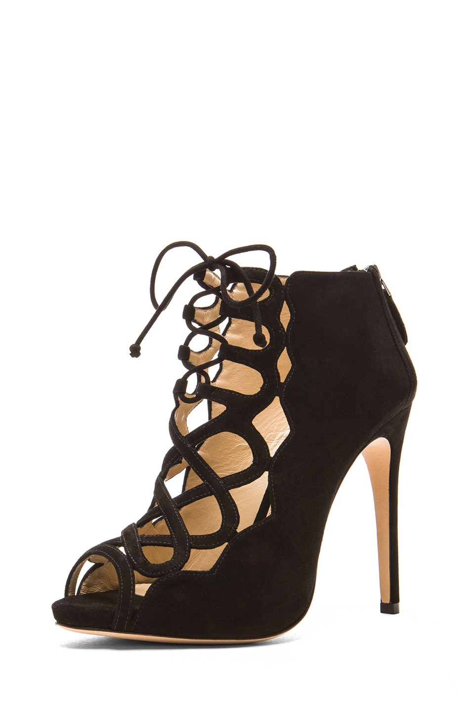 Image 2 of Alexandre Birman Gilca Suede Booties in Black