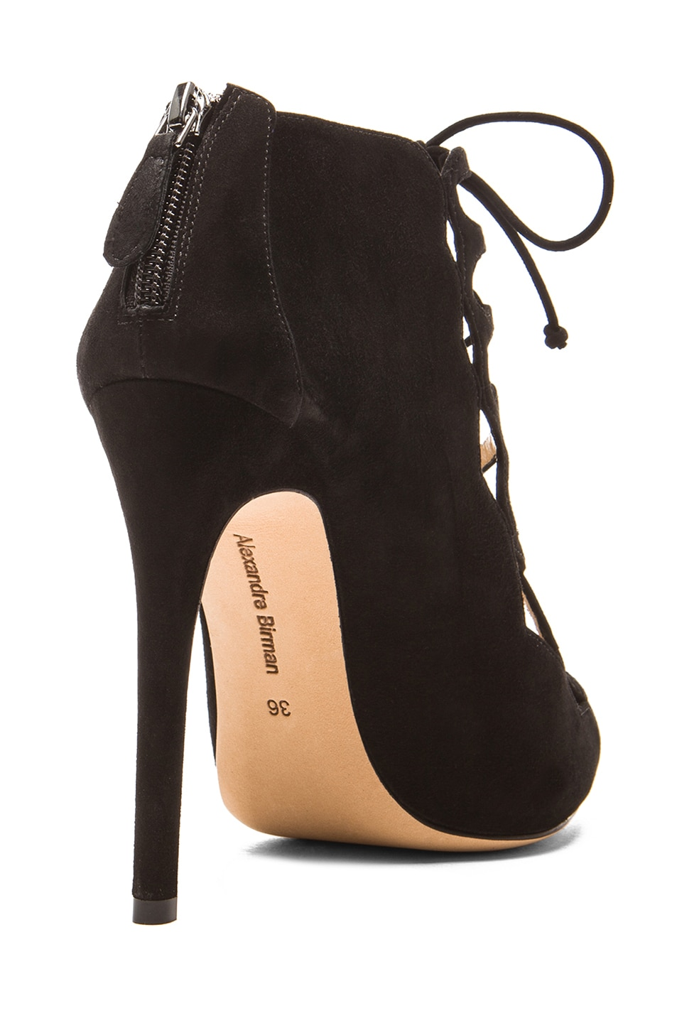 Image 3 of Alexandre Birman Gilca Suede Booties in Black