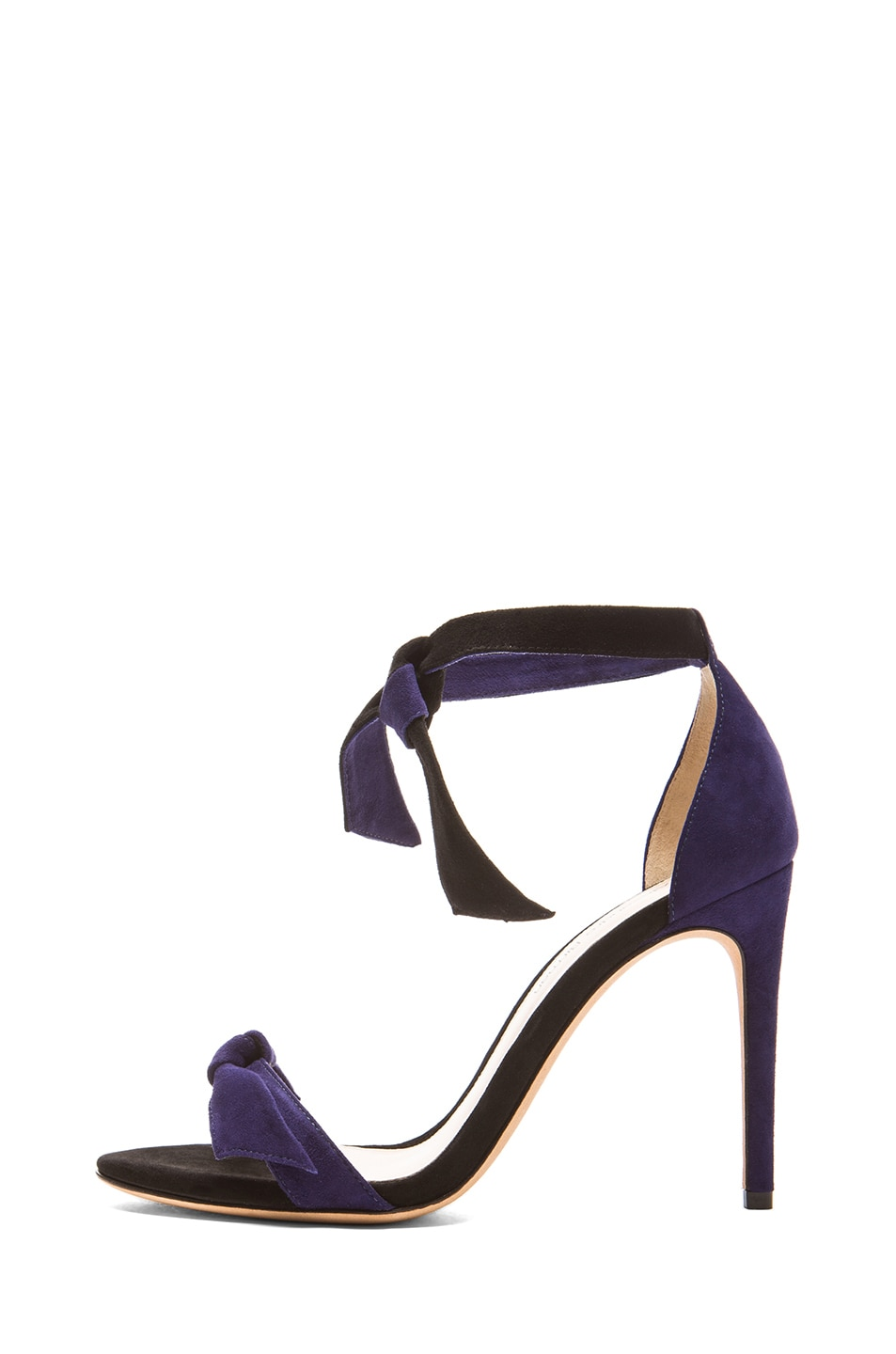 Image 1 of Alexandre Birman Clarita Suede Sandals in Navy & Black