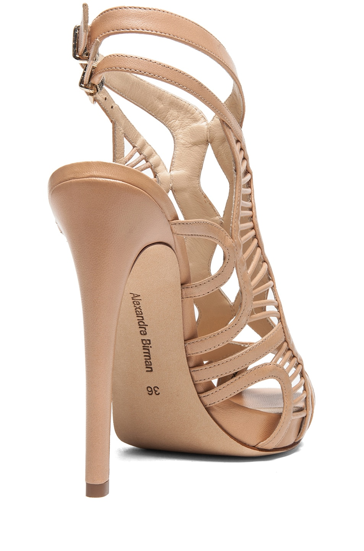 Image 3 of Alexandre Birman Loretta Leather Sandals in Matte Nude