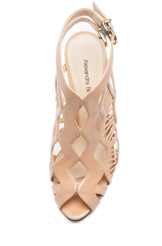 Image 4 of Alexandre Birman Loretta Leather Sandals in Matte Nude