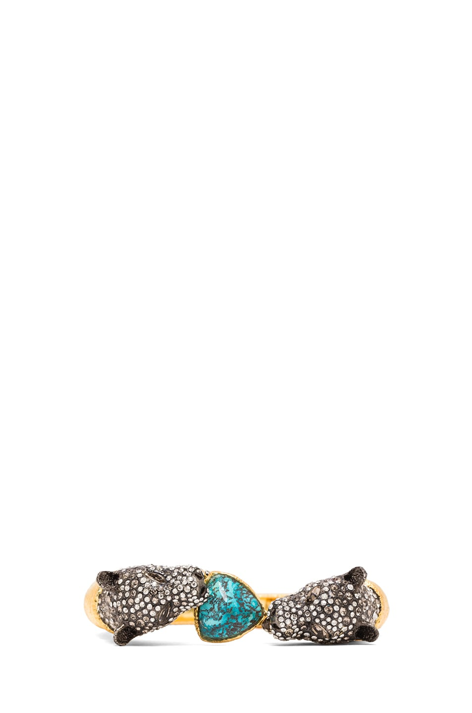 Image 1 of Alexis Bittar Jaguar Duo Bracelet in Cordova Gold & Antique Rhodium