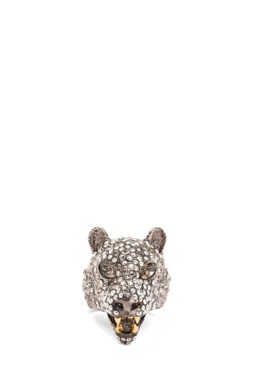 Image 1 of Alexis Bittar Jaguar Antique Rhodium Ring in Cordova Gold