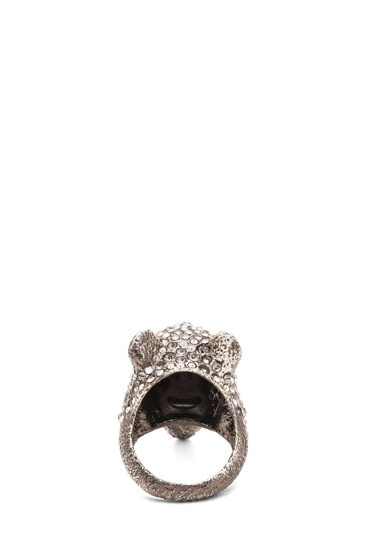 Image 3 of Alexis Bittar Jaguar Antique Rhodium Ring in Cordova Gold