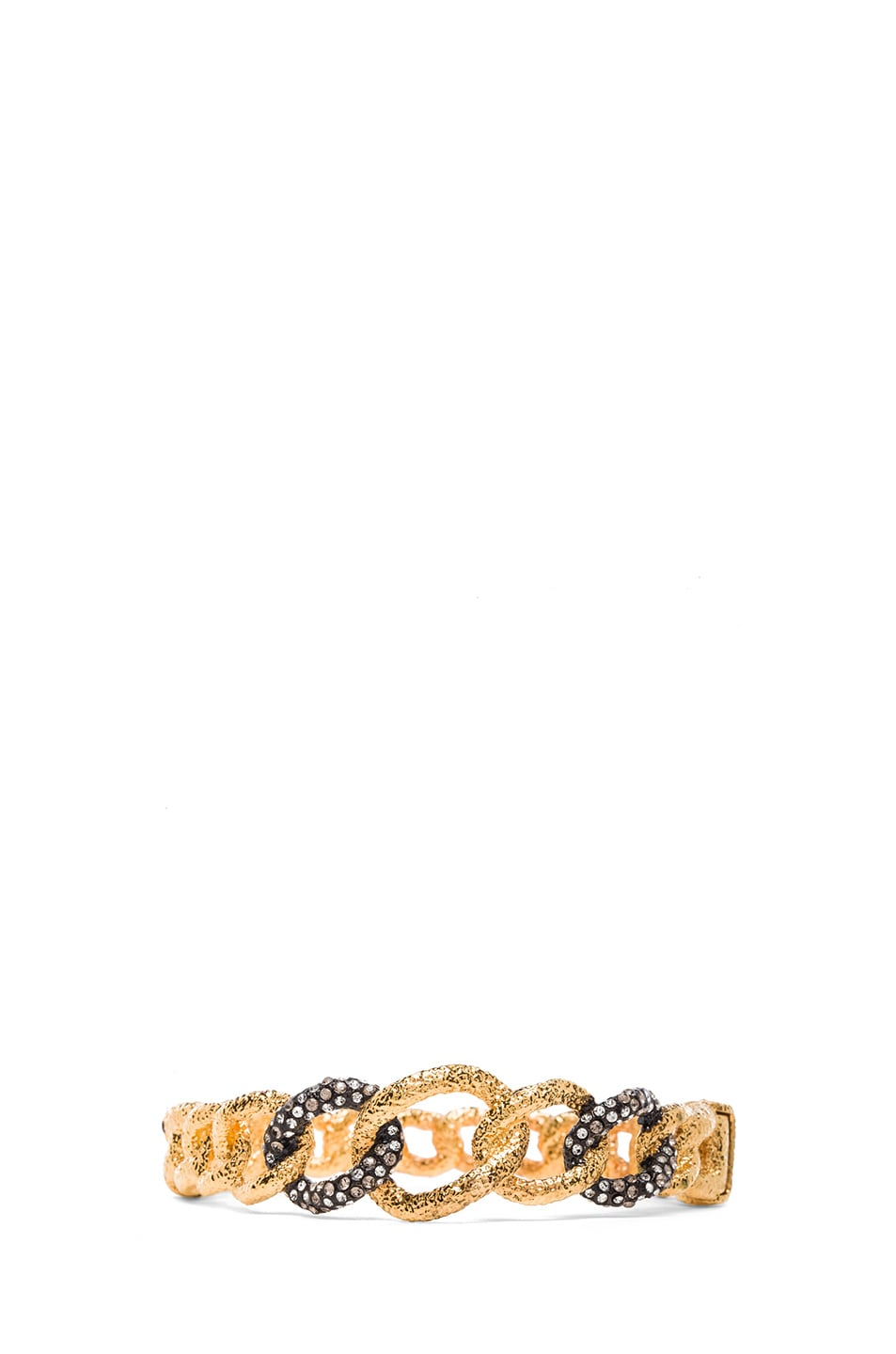 Image 1 of Alexis Bittar Chain Link Hinge Bracelet in Gold