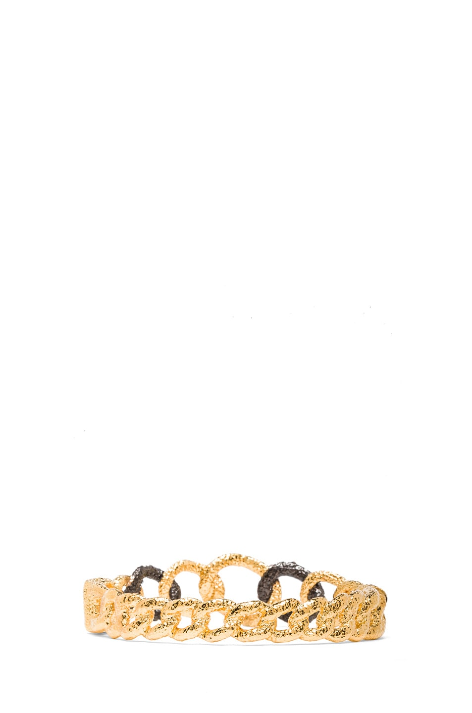 Image 3 of Alexis Bittar Chain Link Hinge Bracelet in Gold