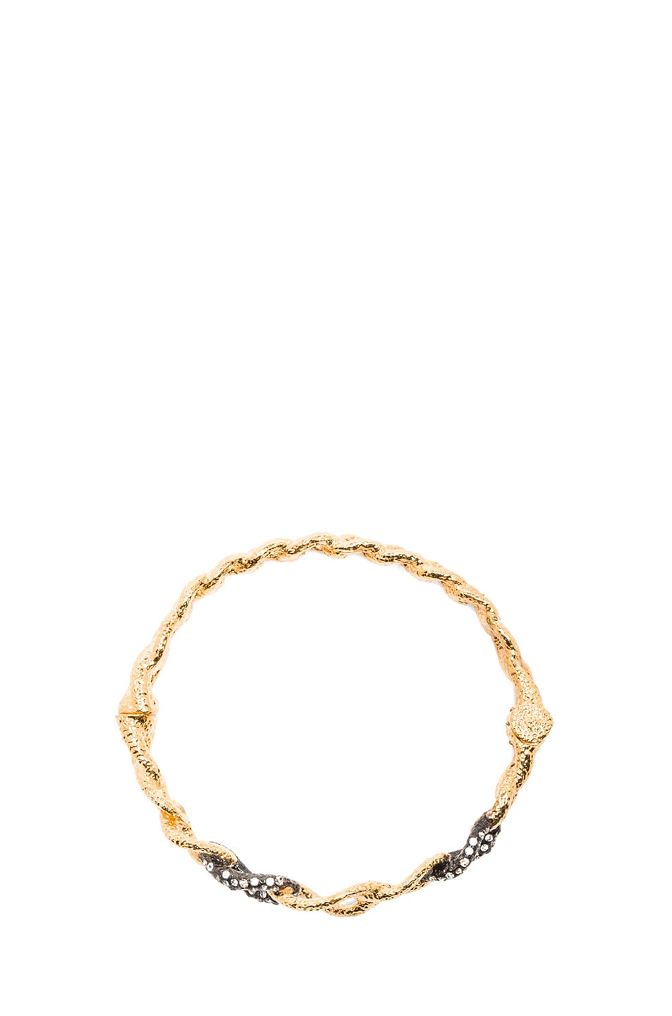 Image 4 of Alexis Bittar Chain Link Hinge Bracelet in Gold