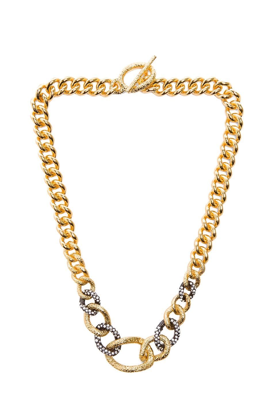 Image 1 of Alexis Bittar Chain Link Single Strand Necklace in Gold