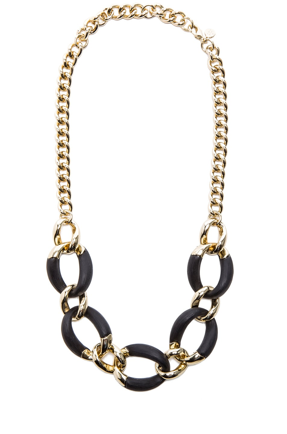 Image 1 of Alexis Bittar Neo Bohemian Lucite Curb Link Necklace in Gold