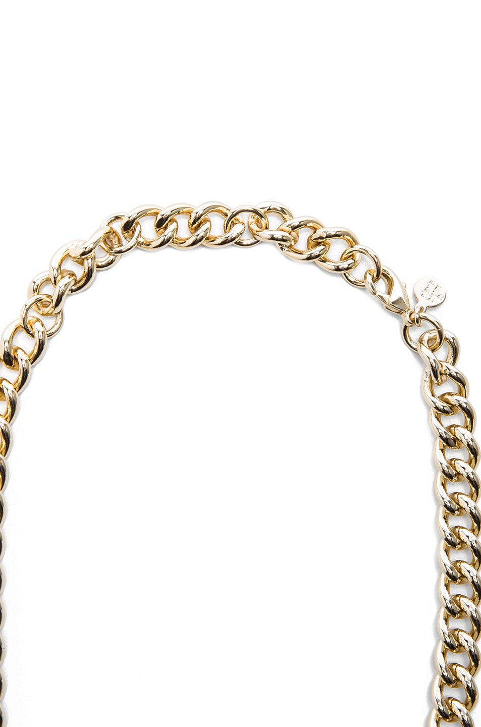 Image 2 of Alexis Bittar Neo Bohemian Lucite Curb Link Necklace in Gold