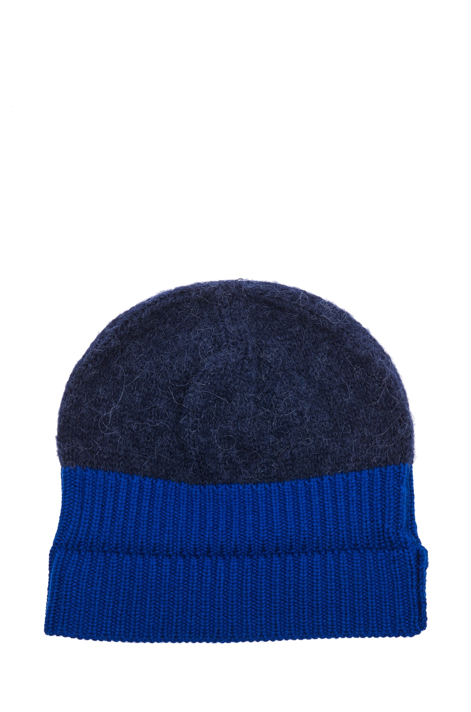 Image 2 of Acne Studios Wood Beanie in Navy
