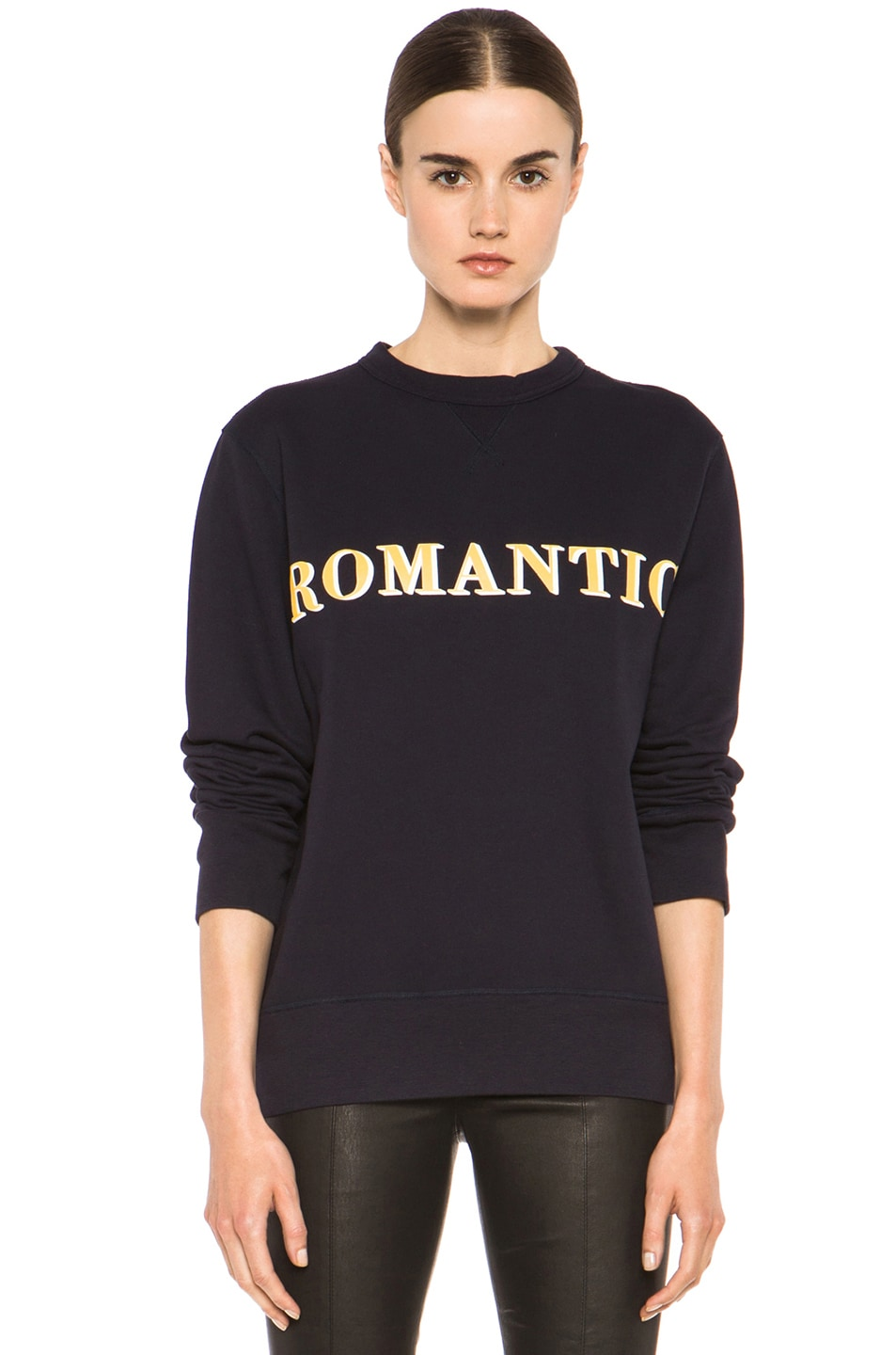 Image 1 of Acne Studios Nick Print Sweatshirt in Navy