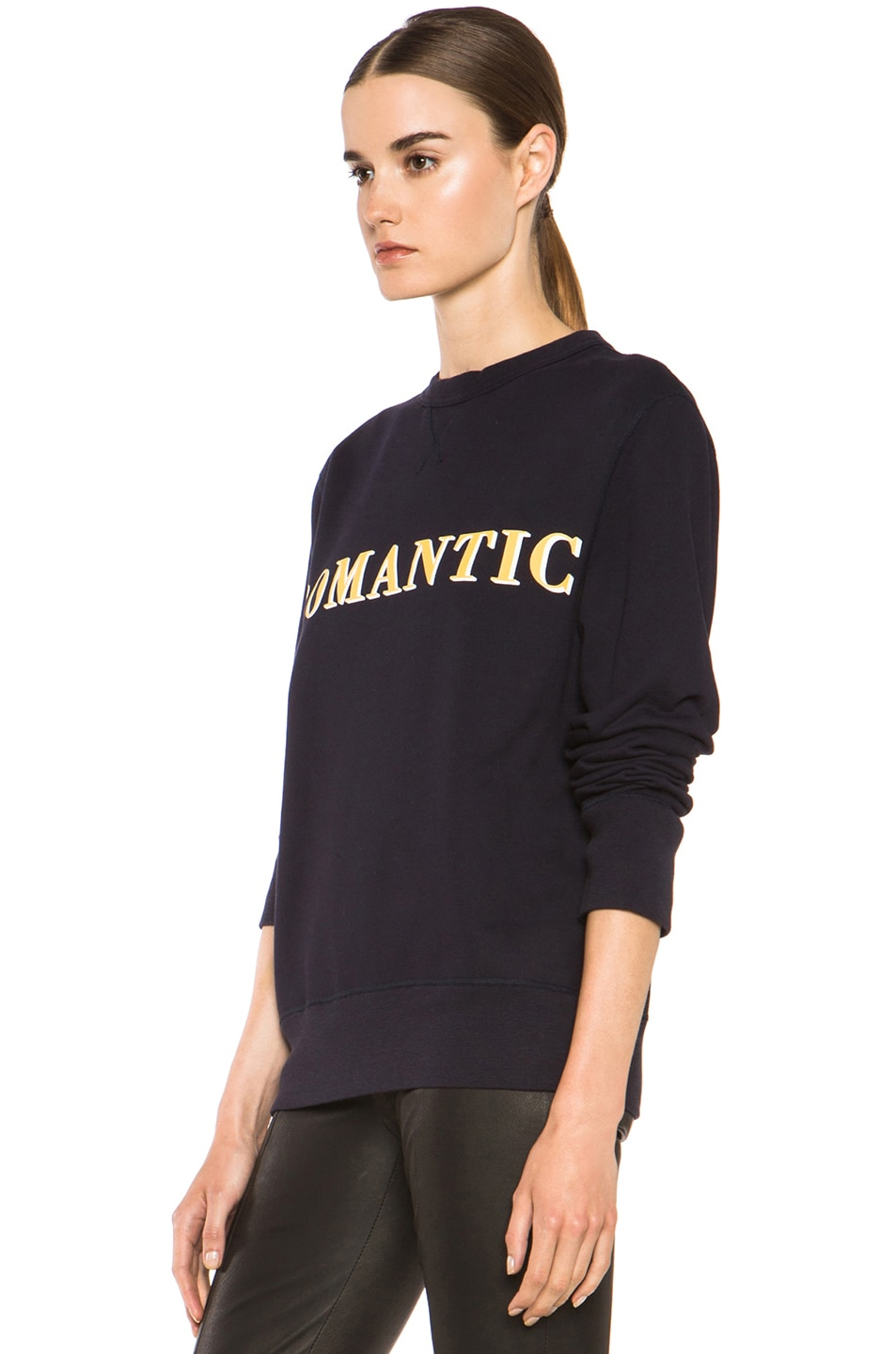 Image 2 of Acne Studios Nick Print Sweatshirt in Navy