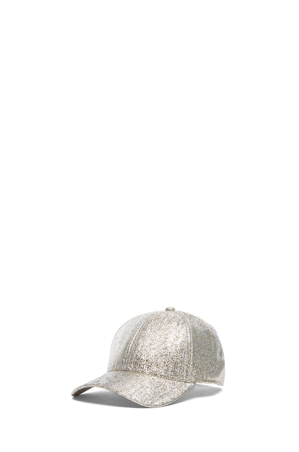 Image 2 of Acne Studios Glitter Camp Hat in Silver