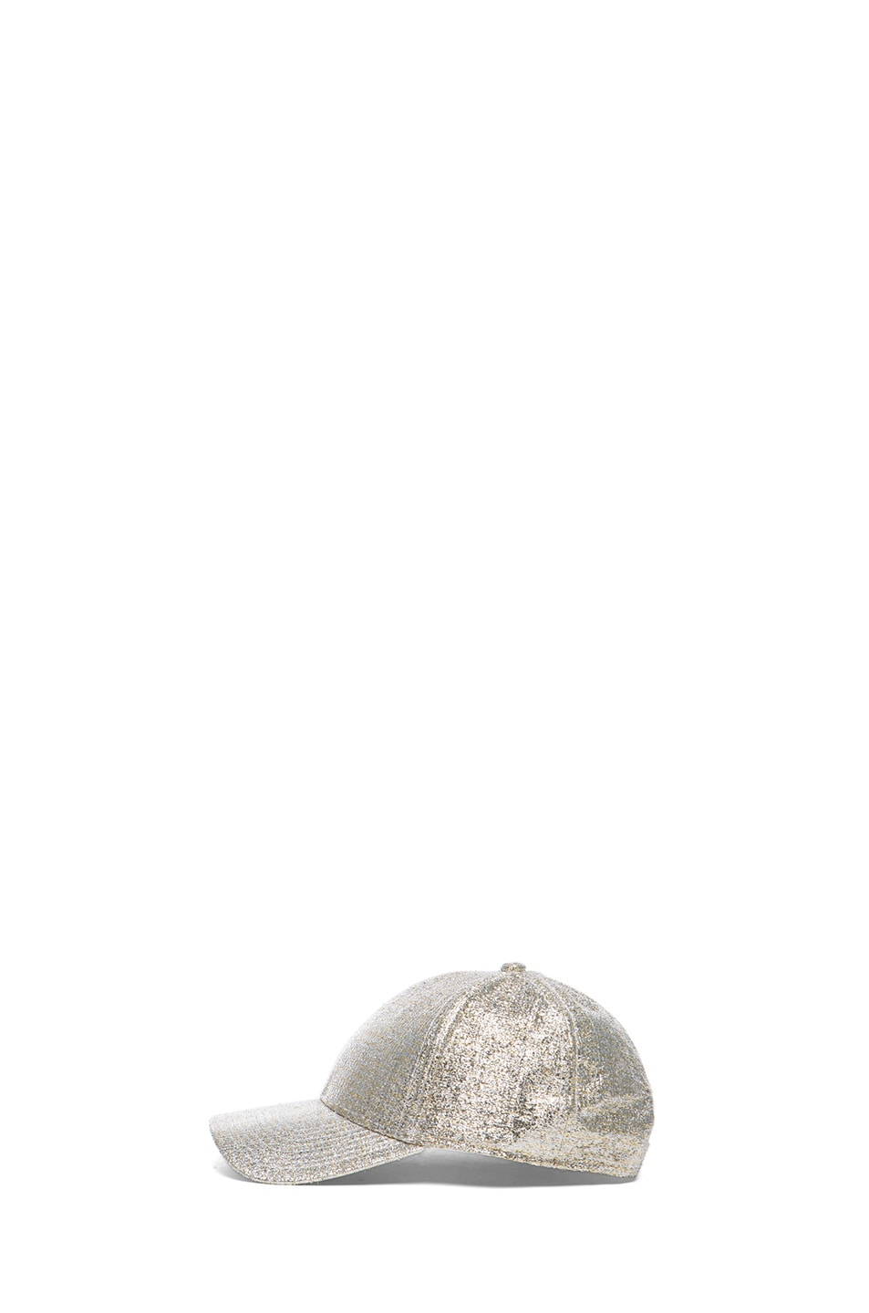 Image 3 of Acne Studios Glitter Camp Hat in Silver