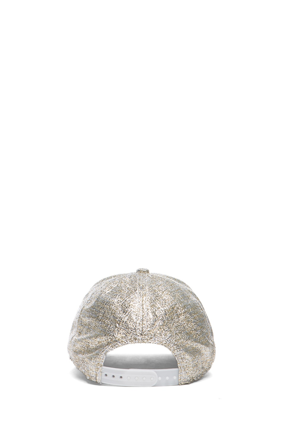 Image 4 of Acne Studios Glitter Camp Hat in Silver
