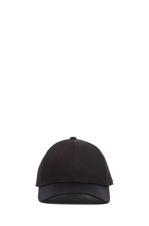 Image 1 of Acne Studios Satin Camp Hat in Black
