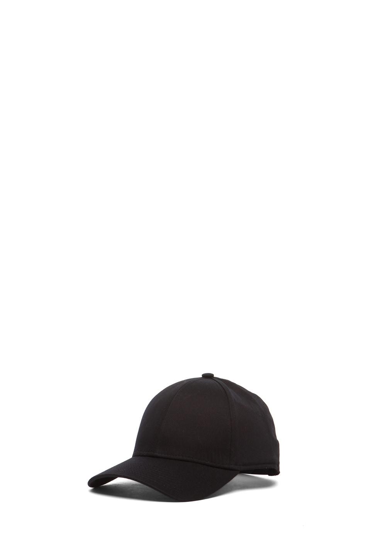 Image 2 of Acne Studios Satin Camp Hat in Black