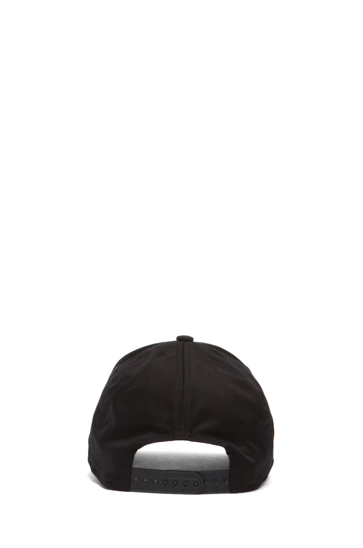 Image 4 of Acne Studios Satin Camp Hat in Black