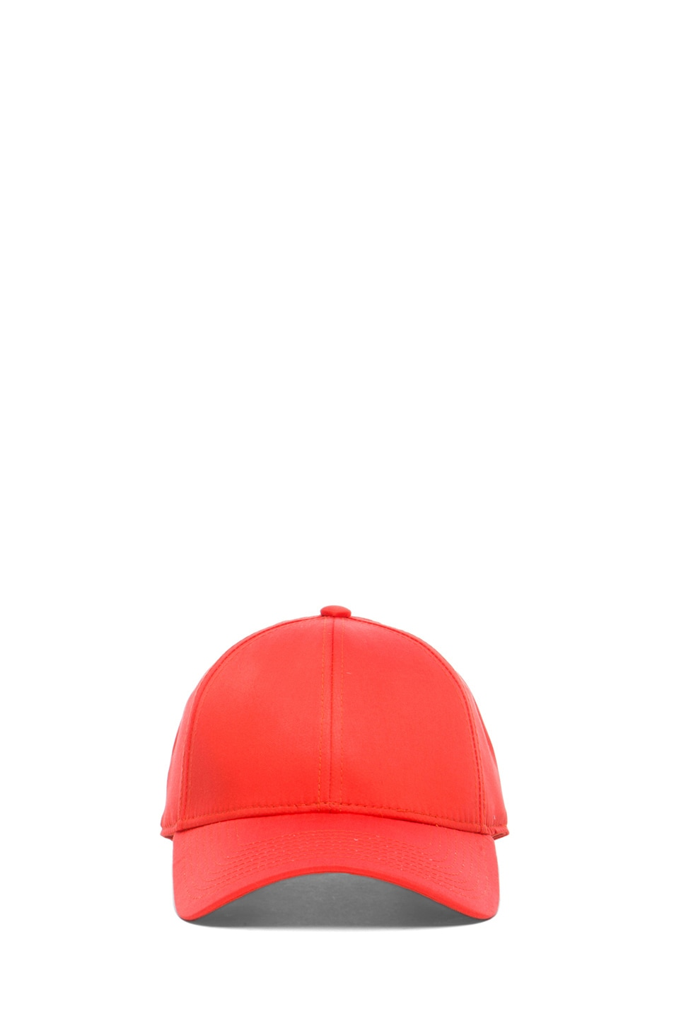 Image 1 of Acne Studios Satin Camp Hat in Orange