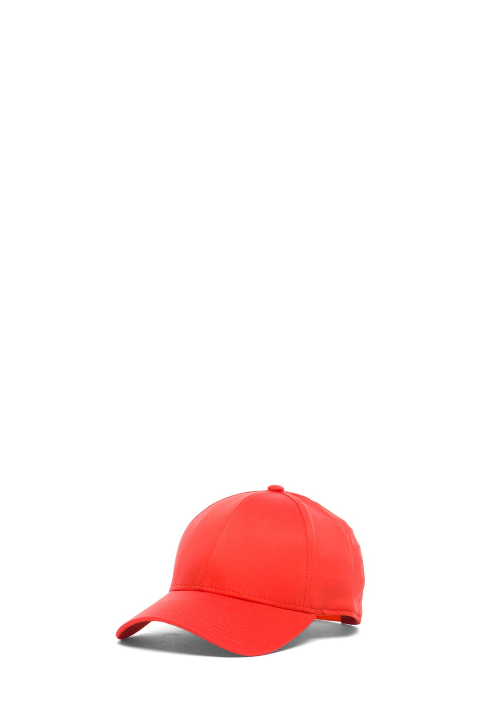 Image 2 of Acne Studios Satin Camp Hat in Orange